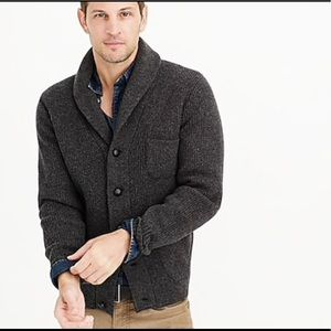 [J Crew] Lambswool Three Pocket Cardigan Sweater